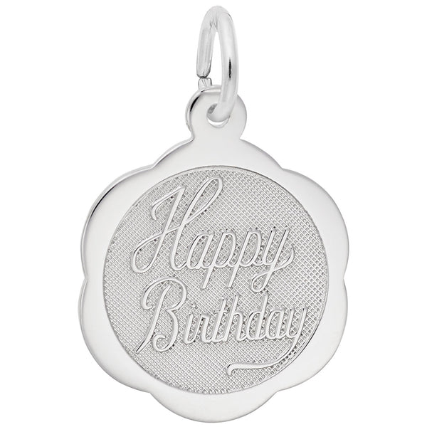 Rembrandt Charms, Happy Birthday, Engravable