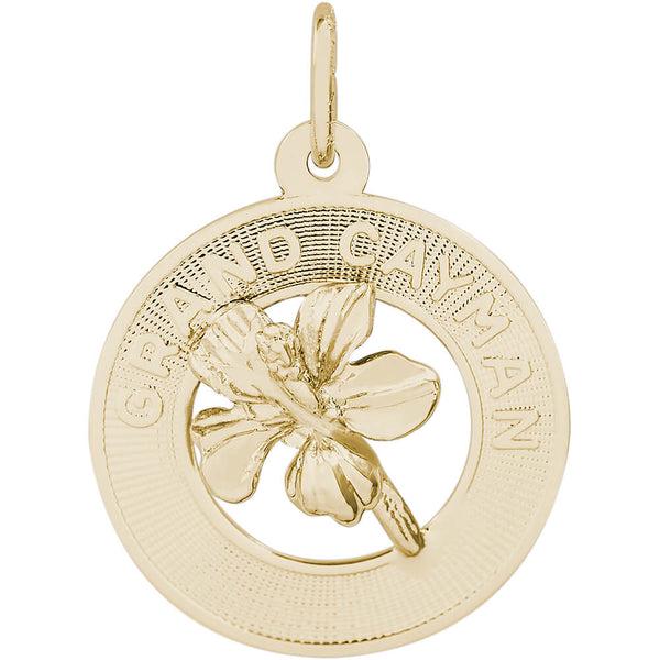 Rembrandt Charms, Grand Cayman Hibiscus, Engravable