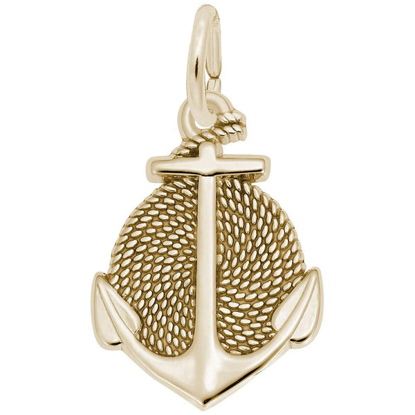 Rembrandt Charms, Anchor, Engravable