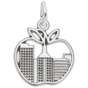 Rembrandt Charms, Big Apple Skyline, Engravable