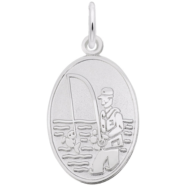 Rembrandt Charms, Fisherman, Engravable