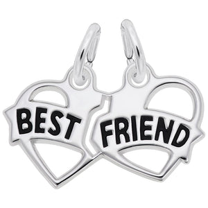 Rembrandt Charms, Best Friend Hearts, Engravable