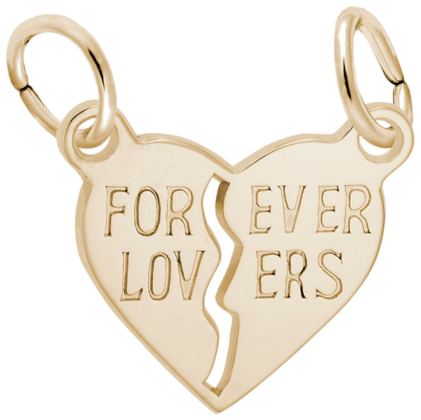 Rembrandt Charms, Forever Lovers, Engravable