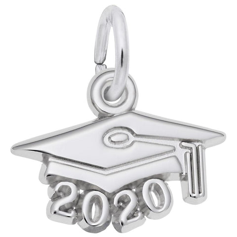 Rembrandt Charms, Grad Cap, Small, Engravable