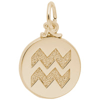 Aquarius / 22k Gold Plate on Silver