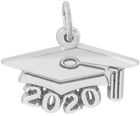 Rembrandt Charms, Grad Cap, Large, Engravable