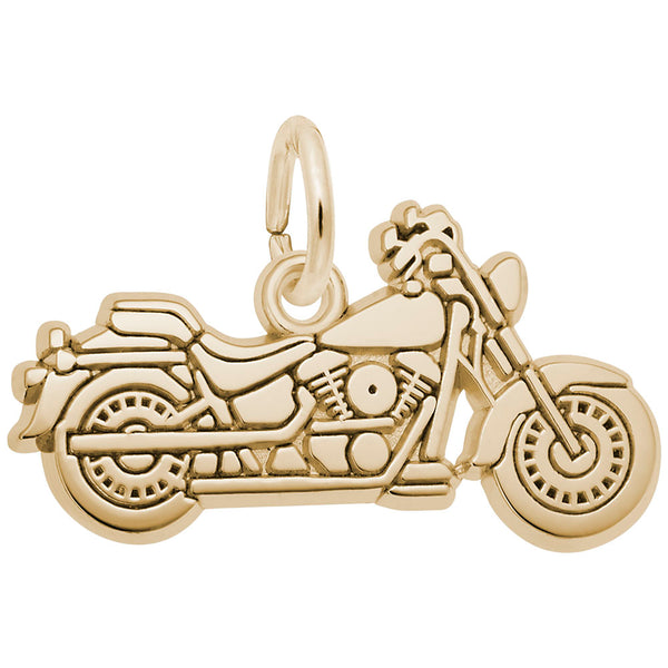Rembrandt Charms, Motorcycle, Engravable