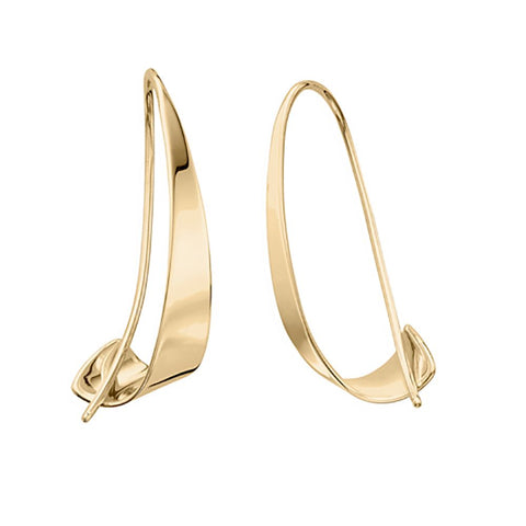Gold Windswept Earrings
