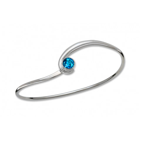 Gem Elegance Bracelet, Sterling Silver and Blue Topaz