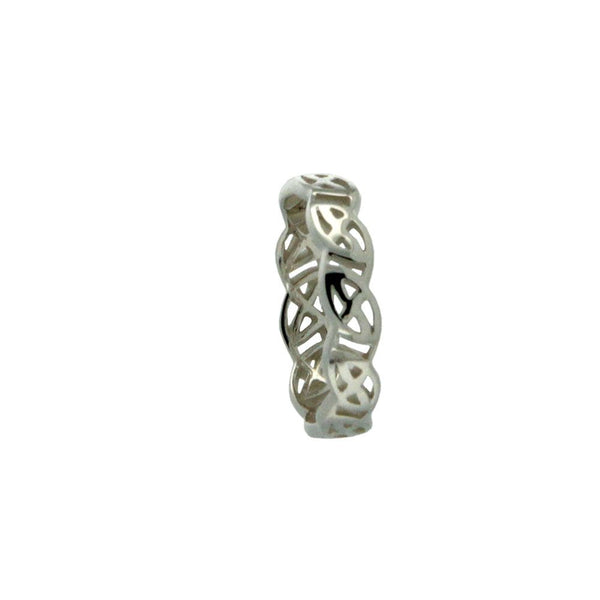 Celtic Weave Kelty Ring, Sterling Silver & 10k Gold