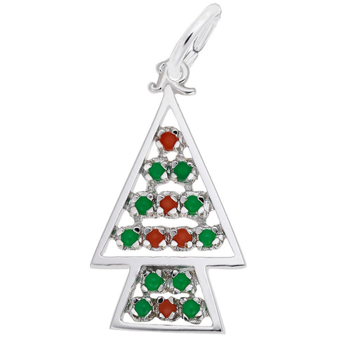 Christmas Tree with Red & Green Ornaments
