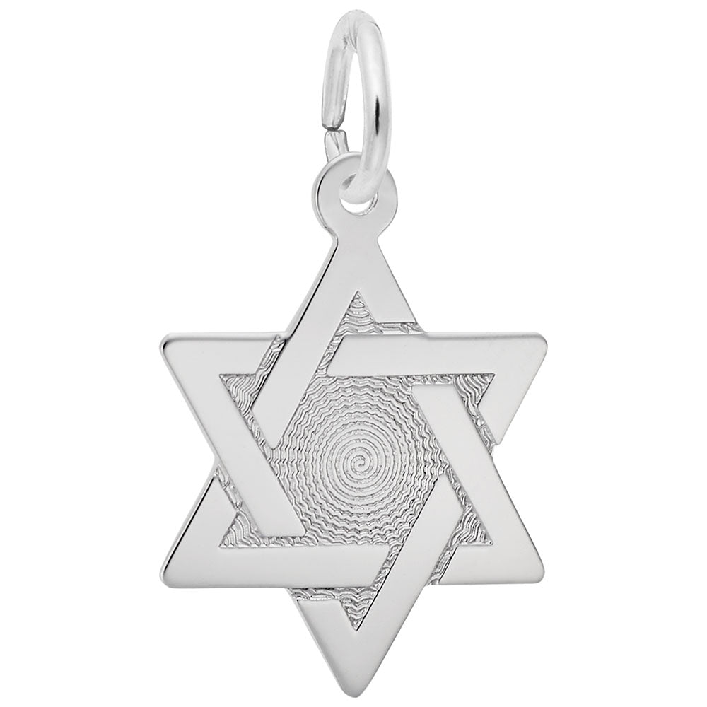 Rembrandt Charms, Star of David, Engravable
