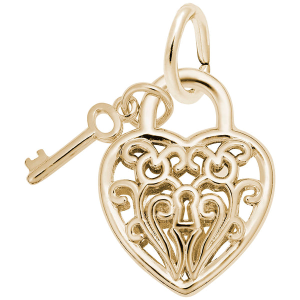 Rembrandt Charms, Filigree Heart & Key