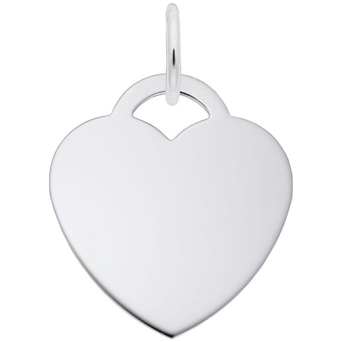 Large Heart (22mm x .5mm), Engravable