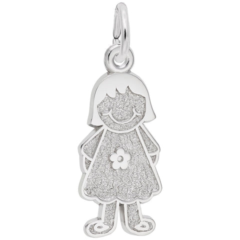 Girl with Dress & Flower, Engravable