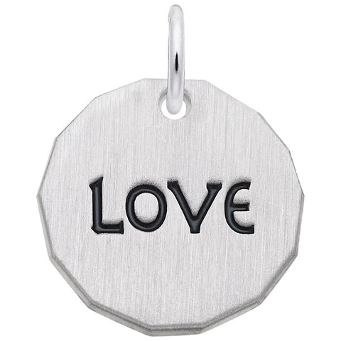 Rembrandt Charms, Love Tag, Engravable