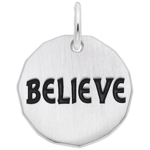 Rembrandt Charms, Believe Tag, Engravable