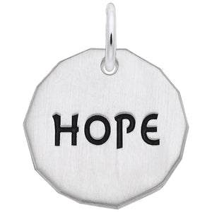 Rembrandt Charms, Hope Tag, Engravable