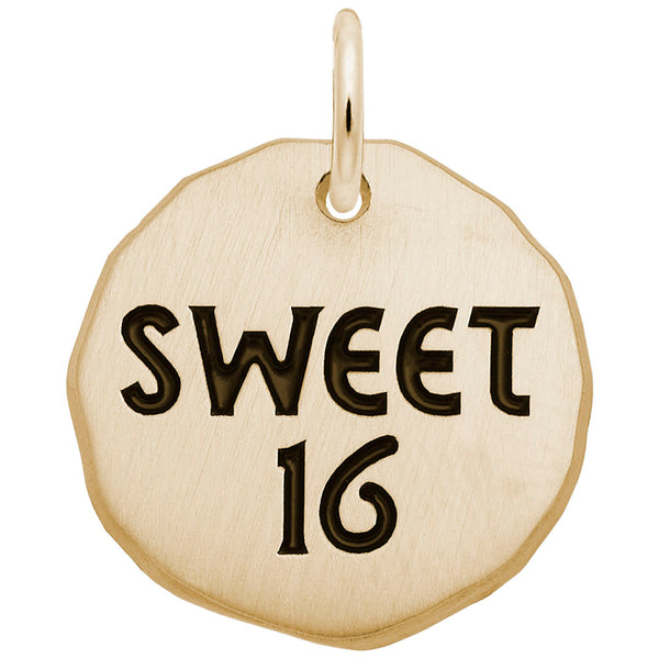 Rembrandt Charms, Sweet 16 Tag, Engravable