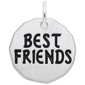 Rembrandt Charms, Best Friends Tag, Engravable