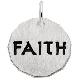 Rembrandt Charms, Faith Tag, Engravable