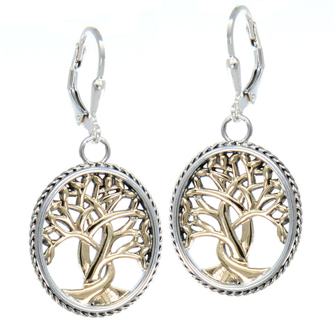 Tree of Life Leverback Earrings