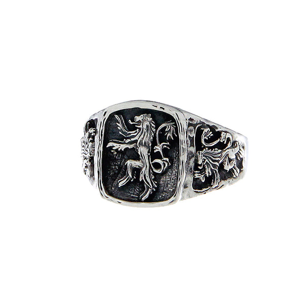 Lion Rampant Rings, Silver or Bronze