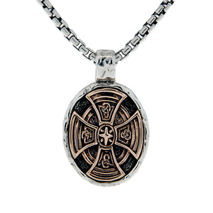 Celtic Cross Oval Necklace