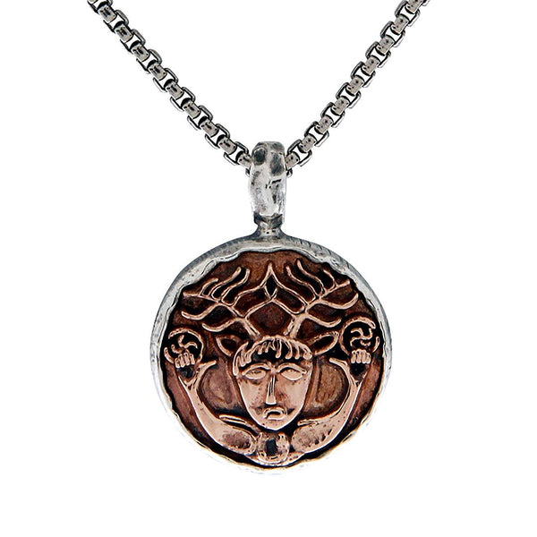 Celtic Coin Necklaces, Celtic Owl, Four Virtues, Cernunnos