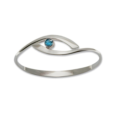 Sensational Swing, Blue Topaz, Sterling Silver