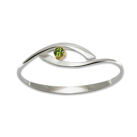 Sensational Swing, Peridot, Sterling Silver & 14k Gold Accent