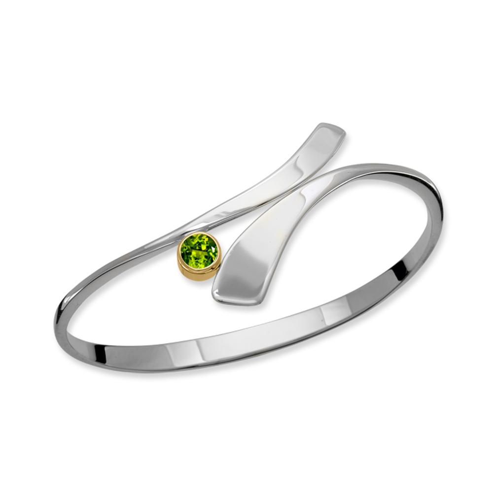 Ed Levin Jewelry-Bracelet-Allemande Small, Peridot, Sterling Silver & 14k Gold Accent