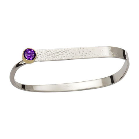 Fizz, Amethyst, Sterling Silver & 14k Gold Accent