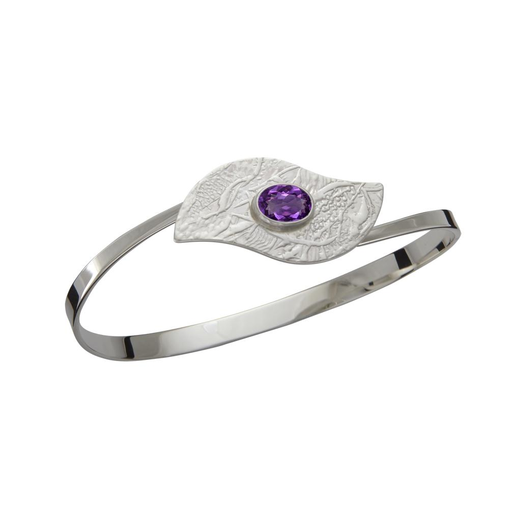 Ed Levin Jewelry-Bracelet-At a Glance, Amethyst, Sterling Silver