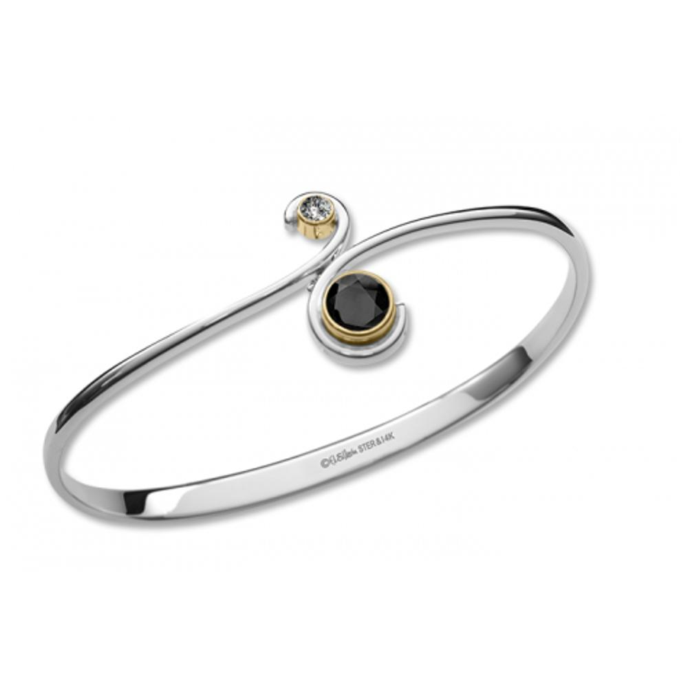 Onyx / Silver & 14k Accent
