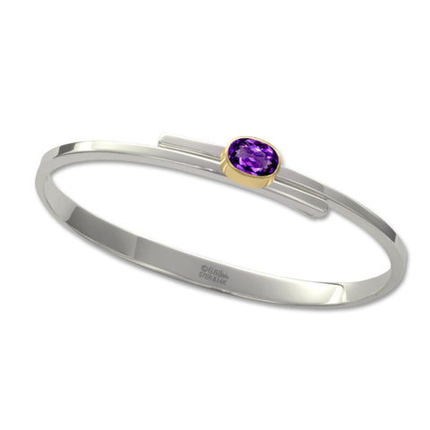 Urban Swing, Amethyst, Sterling Silver & 14k Gold Accent