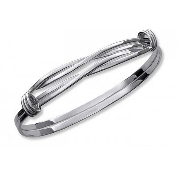 Ed Levin Jewelry-Bracelet-Signature Twist, Sterling Silver
