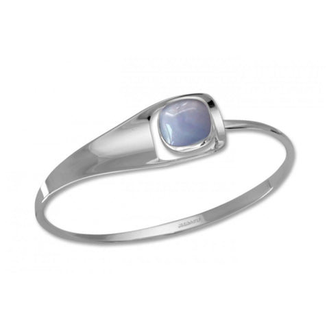 Ed Levin Jewelry-Bracelet-Billow Square, Blue Lace Agate, Sterling Silver
