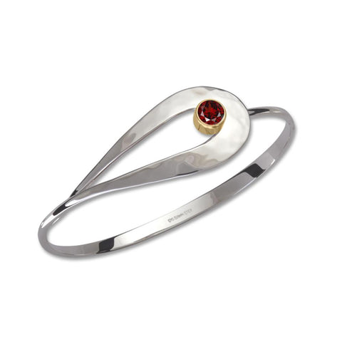 Cleo, Garnet, Sterling Silver & 14k Gold Accent