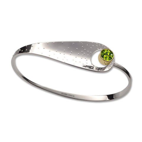 Effervescent, Peridot, Sterling Silver & 14k Gold Accent