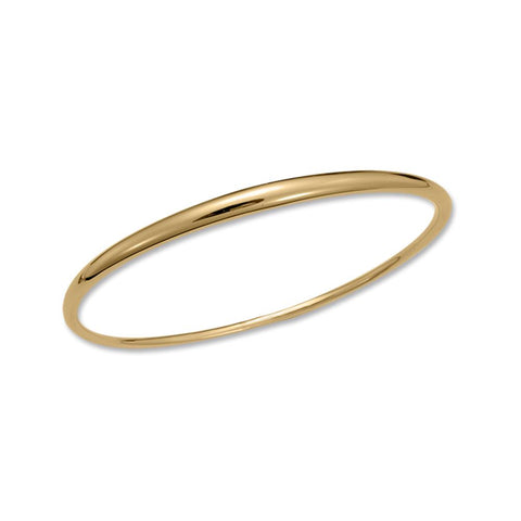 Oval Bangle, 14k Laminate