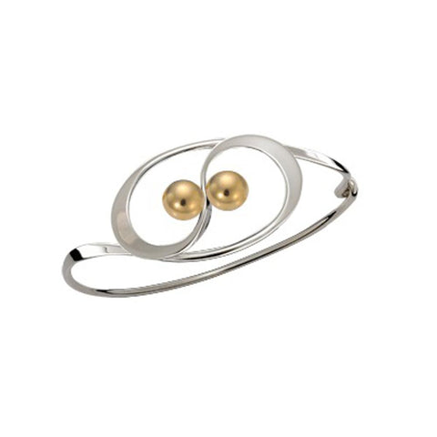 Twining, Sterling Silver w/ 14K Gold Ball