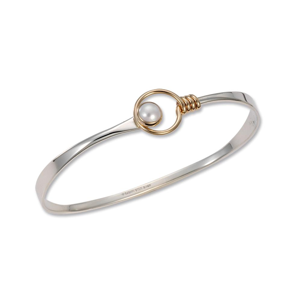 Cultured Pearl / Silver & 14k Accent