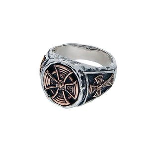Celtic Cross Oval Ring Size 10