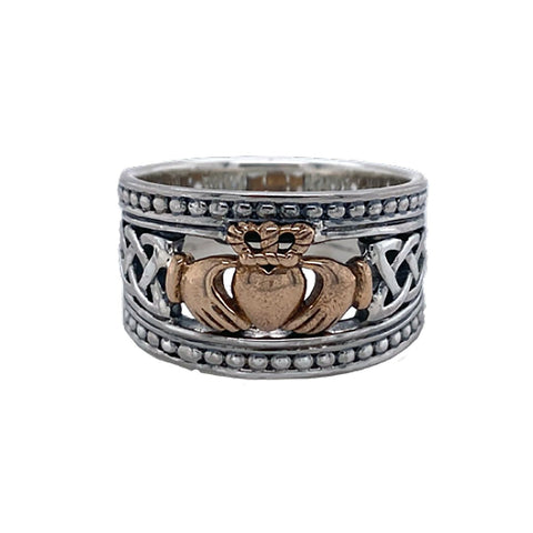 Claddagh Shield Ring Size 10