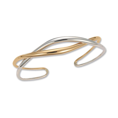 Tendril Cuff, Silver & 14k Laminate