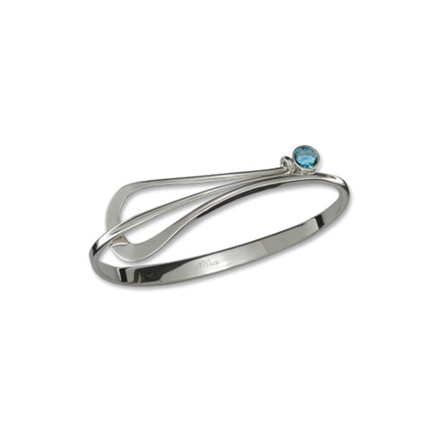 Ed Levin Jewelry-Bracelet-Lady Slipper, Blue Topaz, Sterling Silver