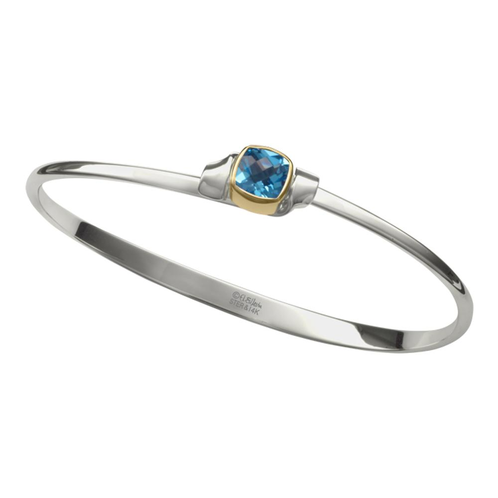 Blue Topaz / Silver & 14k Accent