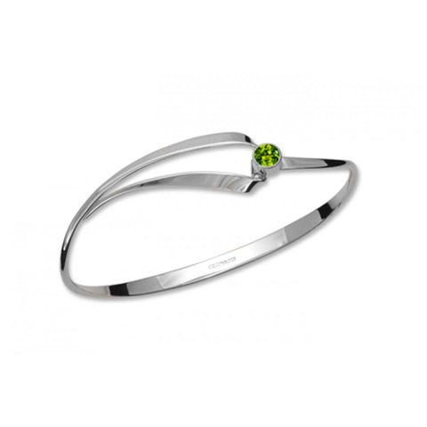 Ribbon Gem, Peridot, Sterling Silver