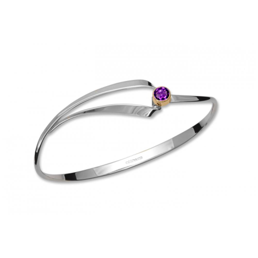 Amethyst / Silver & 14k Accent